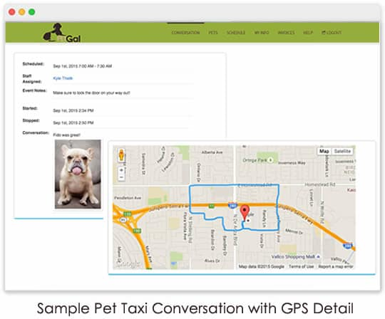 client portal pet taxi gps tracking
